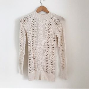 Free People | cable Knit sweater